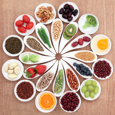Healthy Selection of fruits, veggies and nuts
