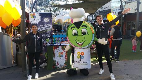 Yummie the Mascot at Lane Cove
