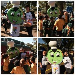 Yummie the mascot at Blairmount Public School